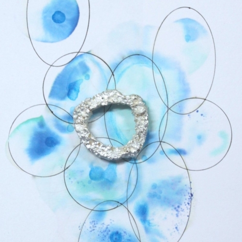Fluid colours combined with silver jewellery = seascape heaven
