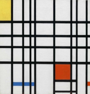 Composition with Yellow, Blue and Red  1937-42 Piet Mondrian at The Tate