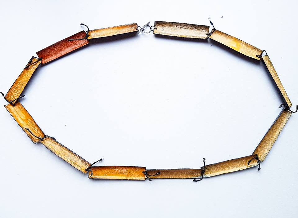 emily higham Larger Hive Enamel Threaded Necklace .jpg