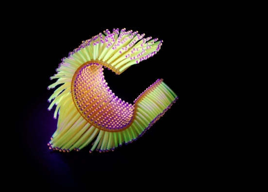 Wanshu Li, _Go with the Glow_ Bangel,2016,acrylic, seed beads, fluorescent plastic tube,nylon wire,12 x8x5cm, Photo by Shannon Tofts (1).jpg