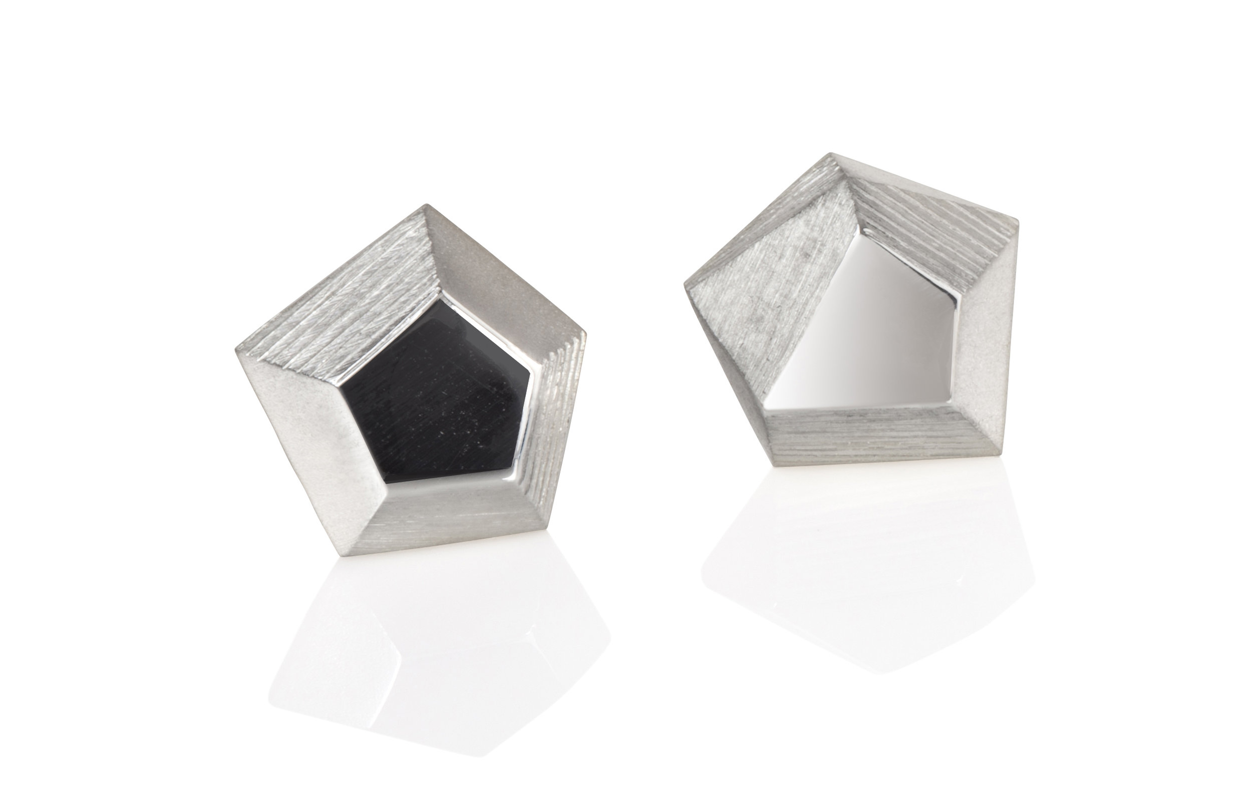 Emma Farquharson Small silver faceted stud earrings.jpg
