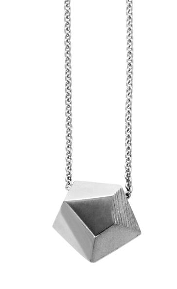 Emma Farquharson Small silver faceted pendant.jpg
