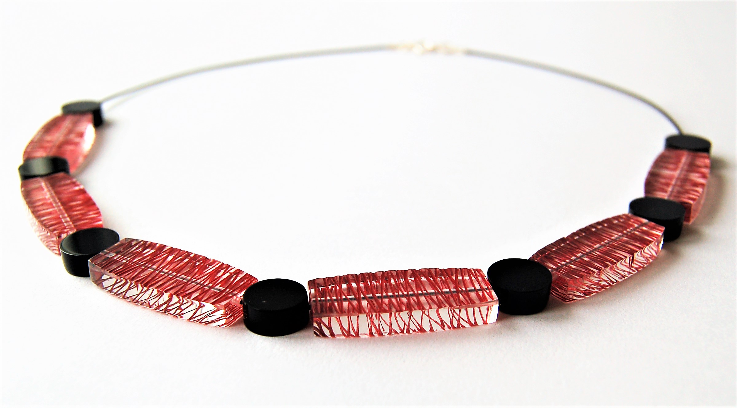Sarah Packington red wired necklace .jpg