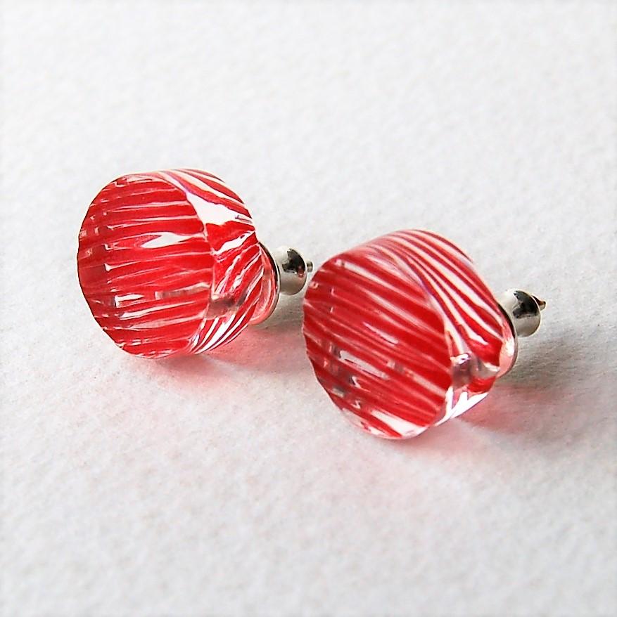Sarah Packington red disc stud earrings .JPG