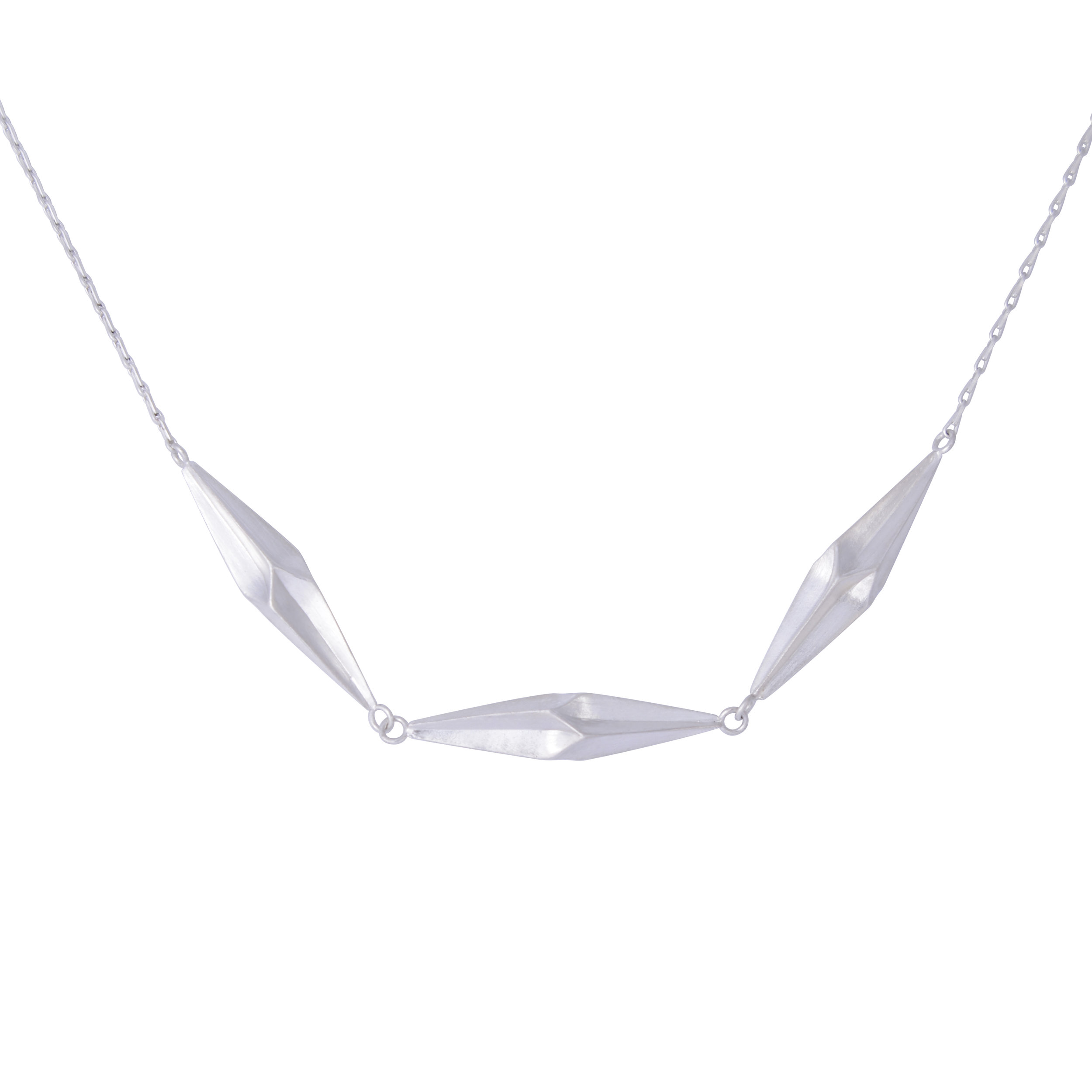 Alice Barnes, Silver Shard Triplet Necklace.jpg