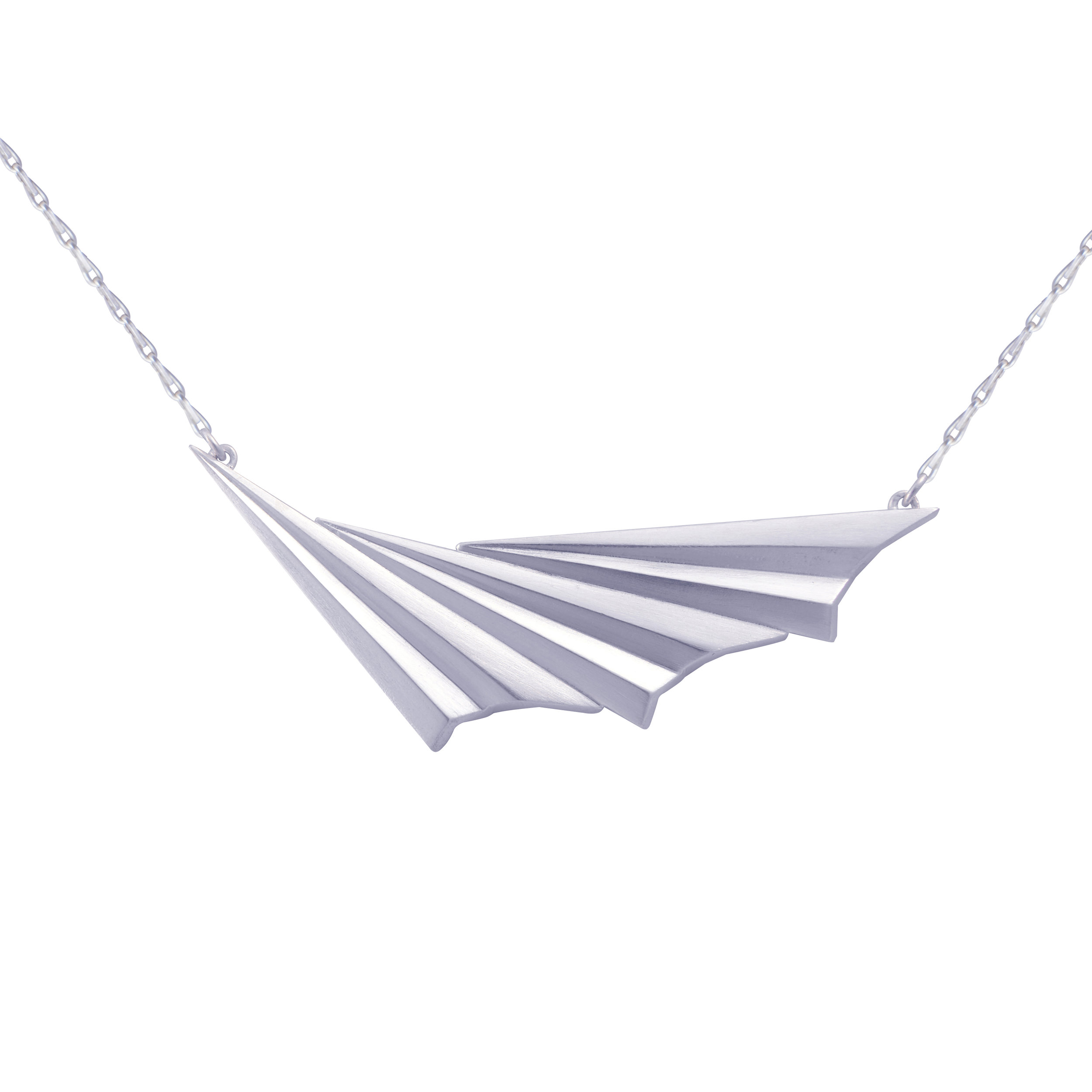 Alice Barnes, Silver Pleated Wave Necklace.jpg