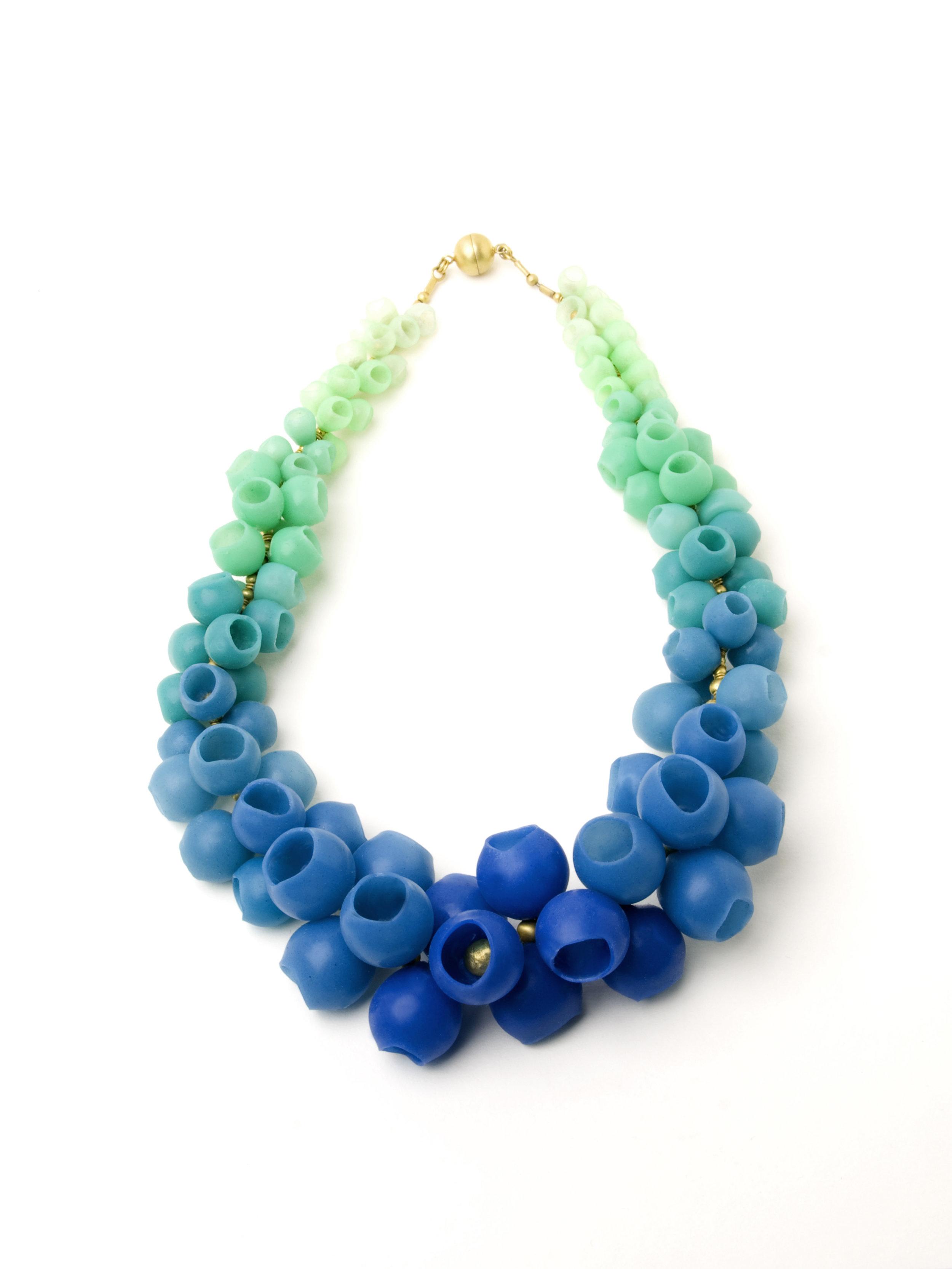 2 Jenny Llewellyn, Blue-Green fade Plume Necklace-300.jpg