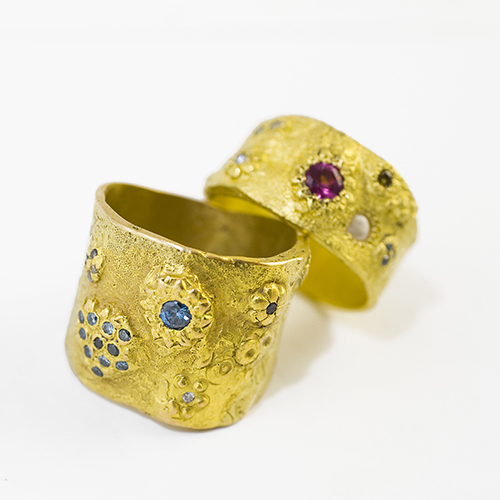 Rings by Parisian jeweller Esther Assouline