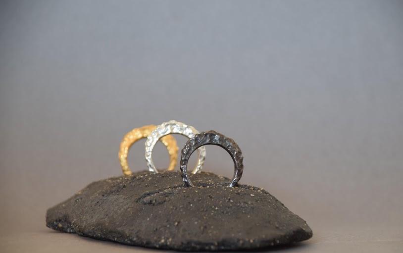 Kostadinos Karanikas rock textured rings