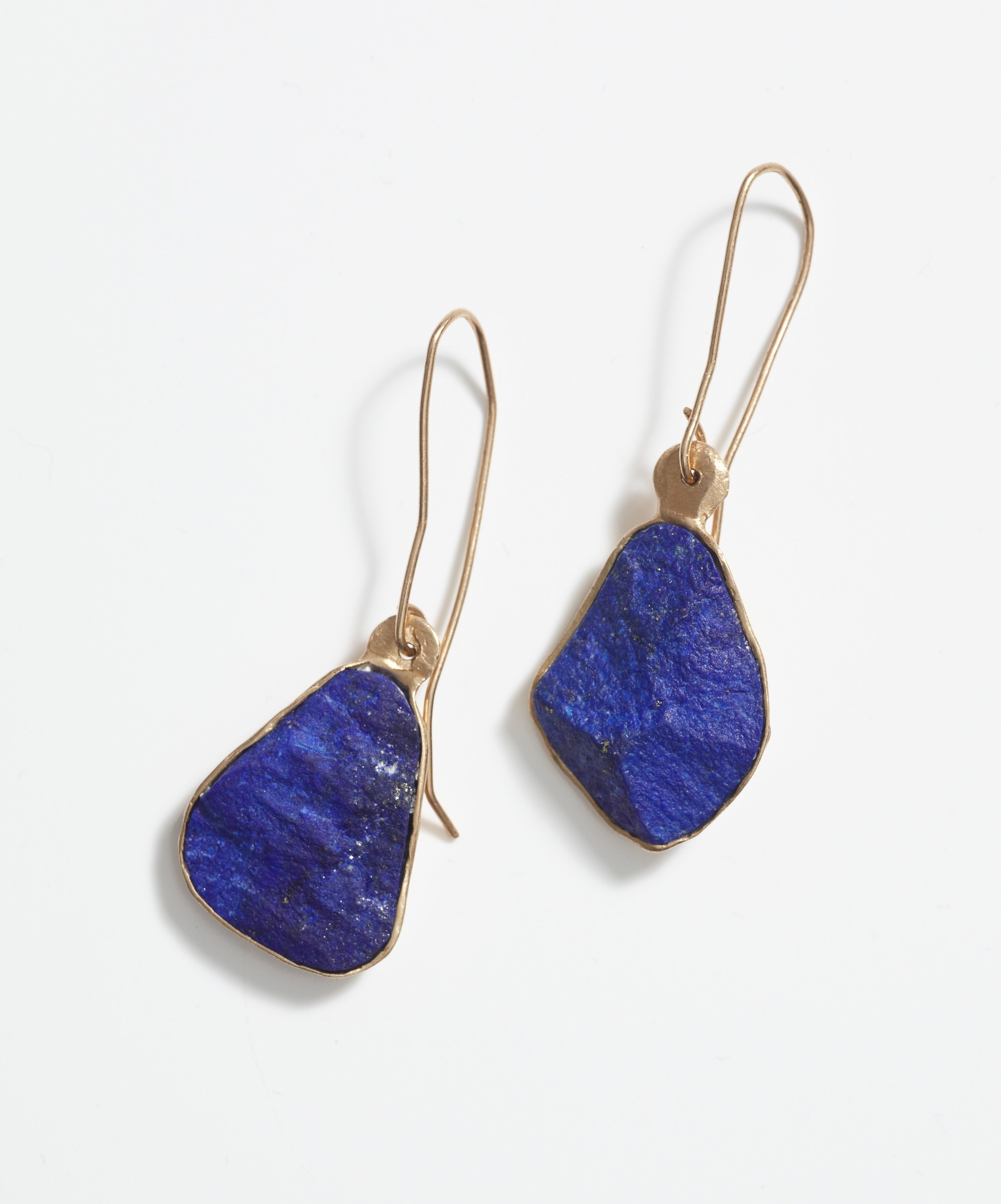 18ct Gold & Lapis Lazuli earrings by Rosy Gounaris Milner at  Beyond the Blue