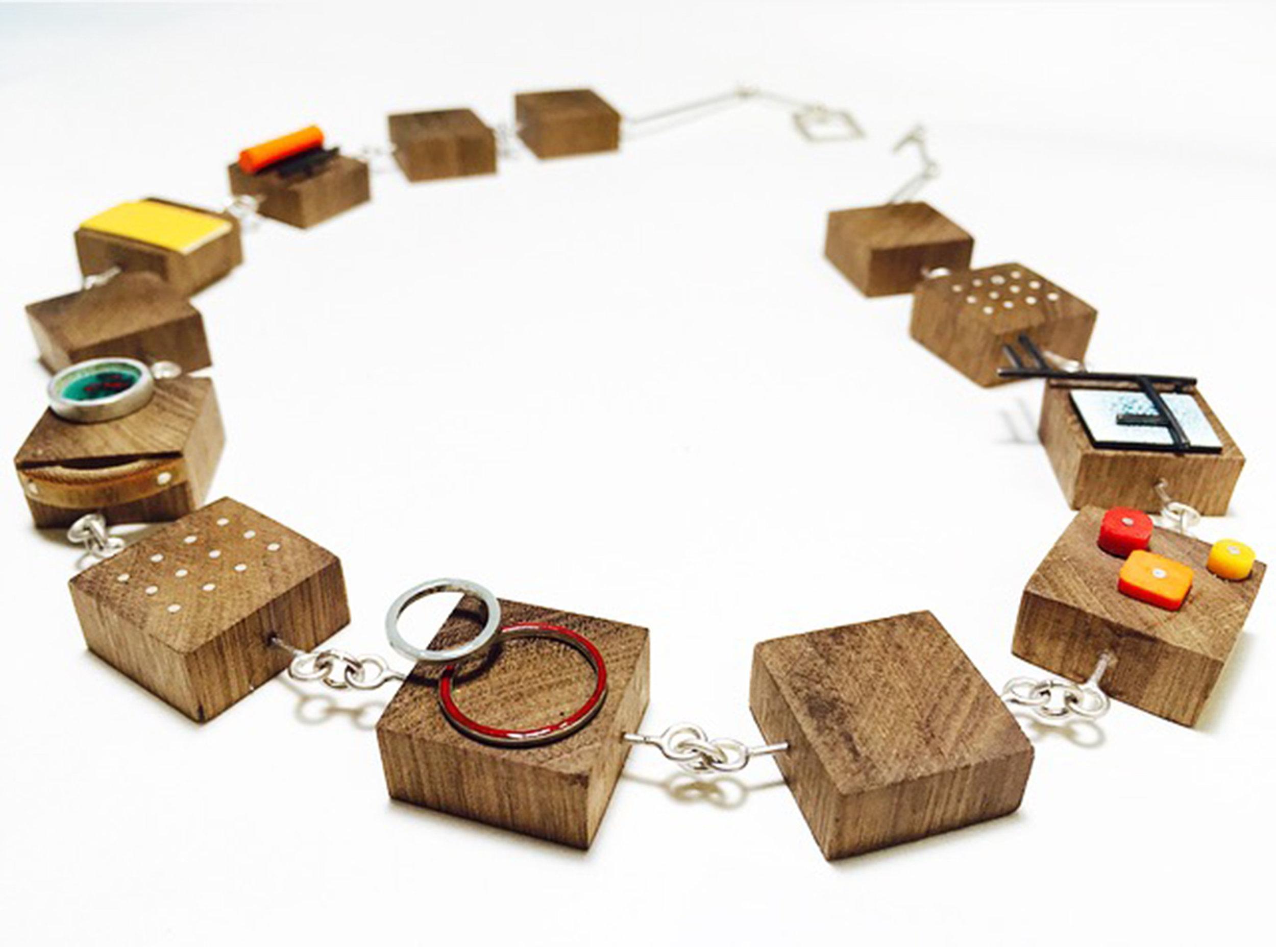 Rachel Butlin - Walnut,bamboo and enamel statement pendant (1).jpg