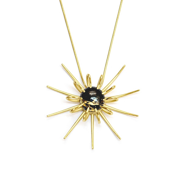 Rhiannon Emma Jewellery - Gold vermeil and obsidian necklace.jpg
