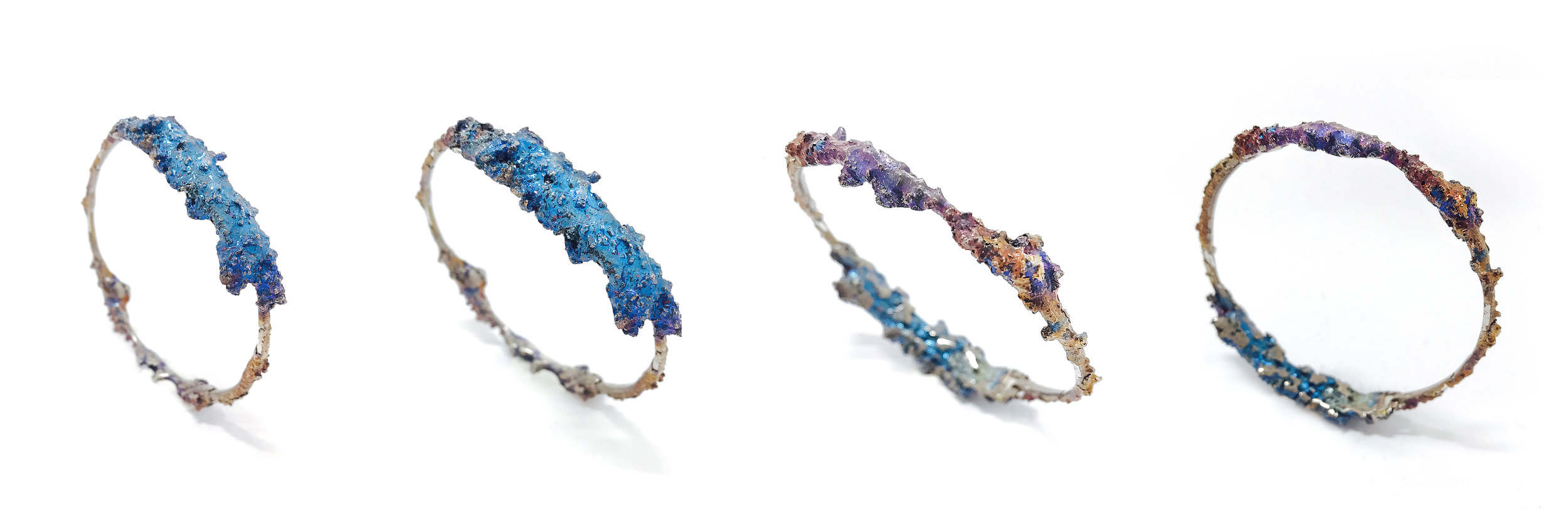 Sara Chyan creates jewellery formed using reformed Bismuth