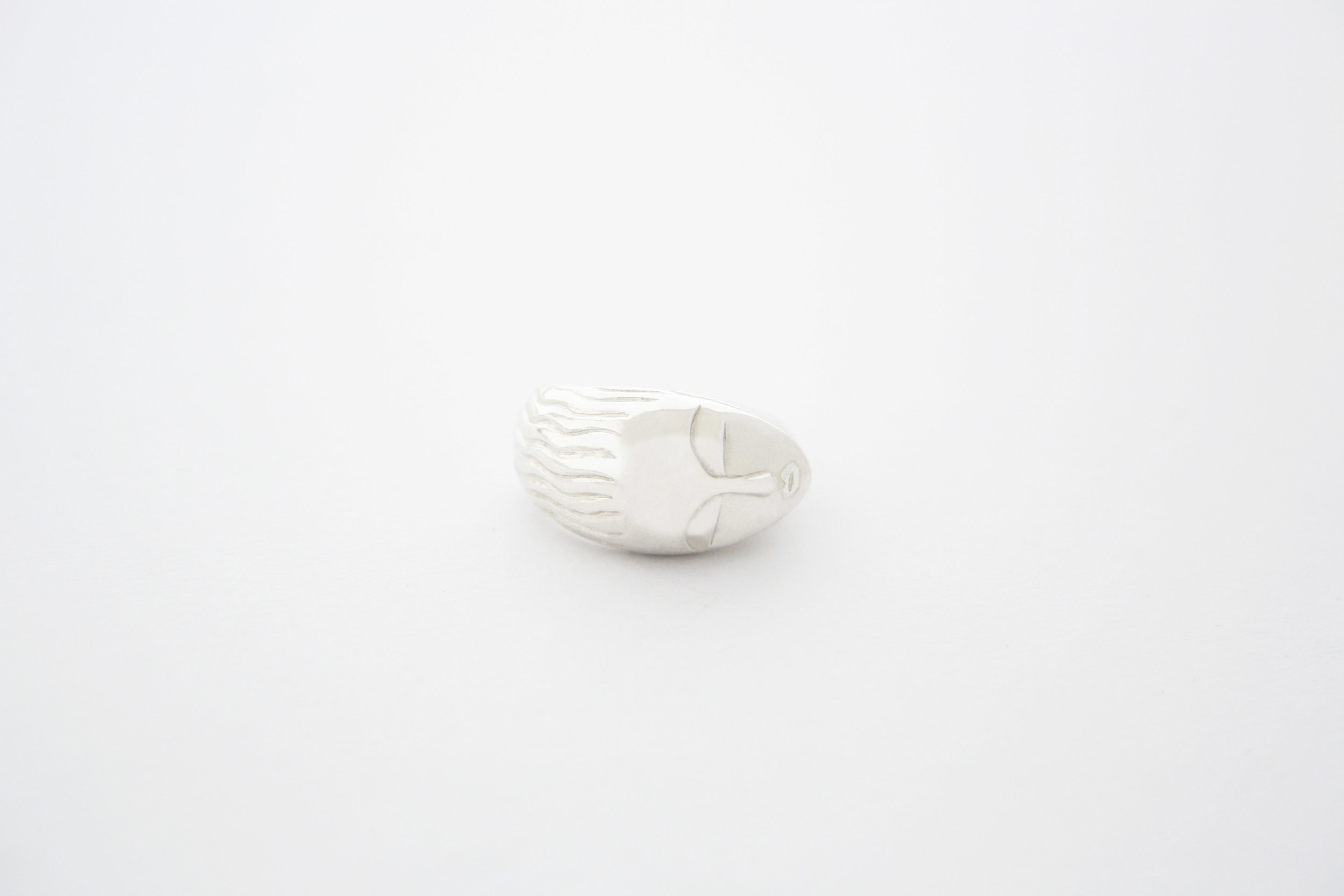 Polished silver Brancusi ring.jpg