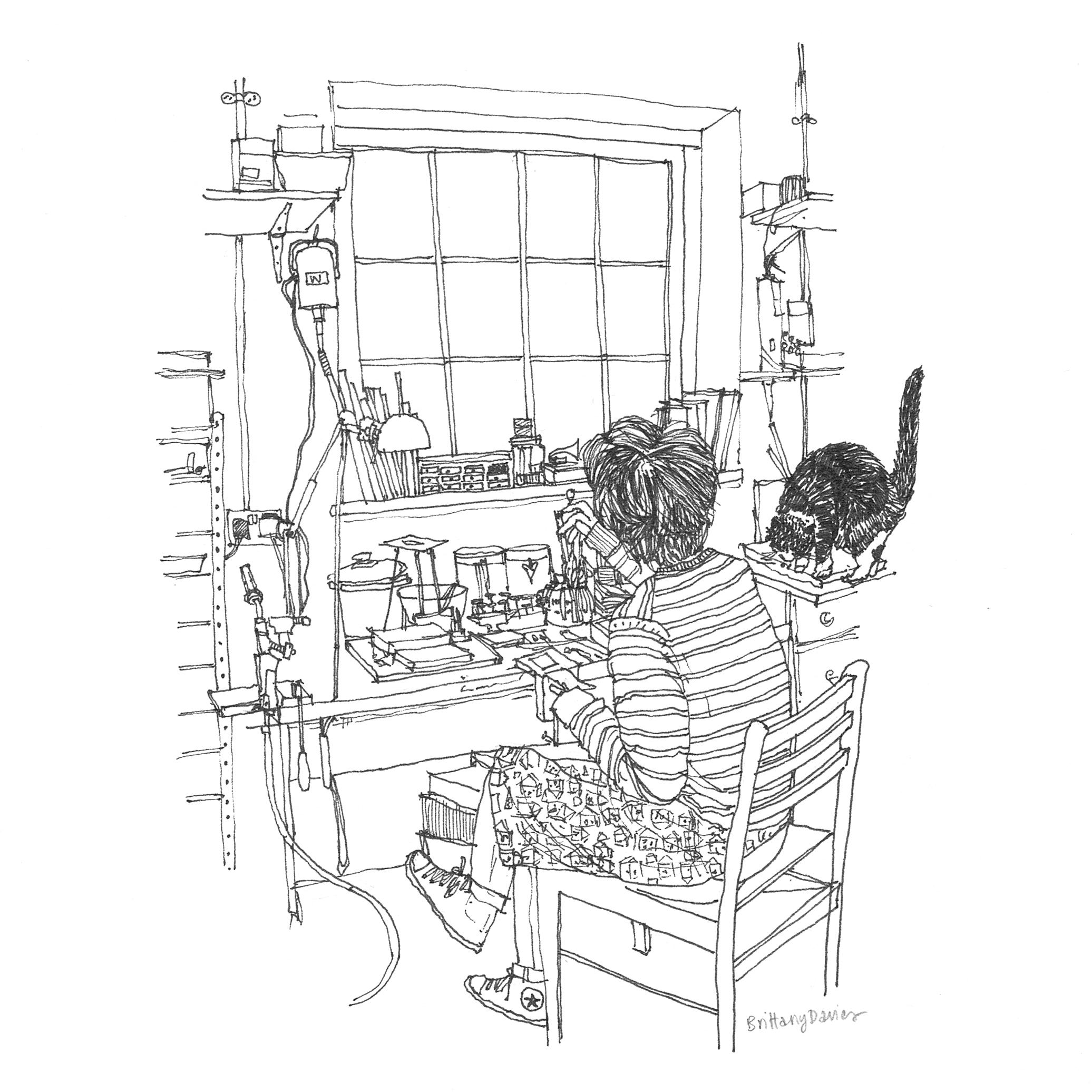 MIZUKI TAKAHASHI IN HER WORKSHOP DRAWING BY BRITTANY DAVIES.jpg