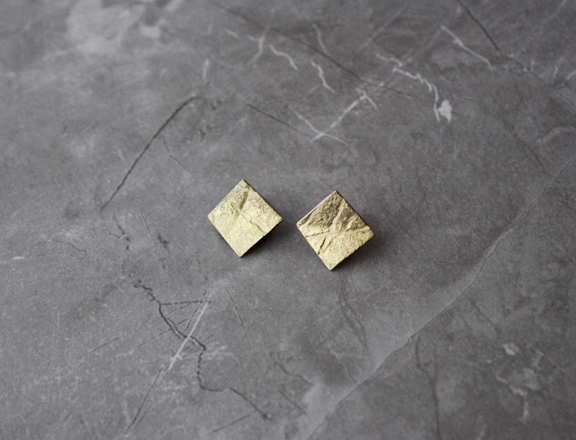 Rhona McCallum Gold plated silver square studs.jpg