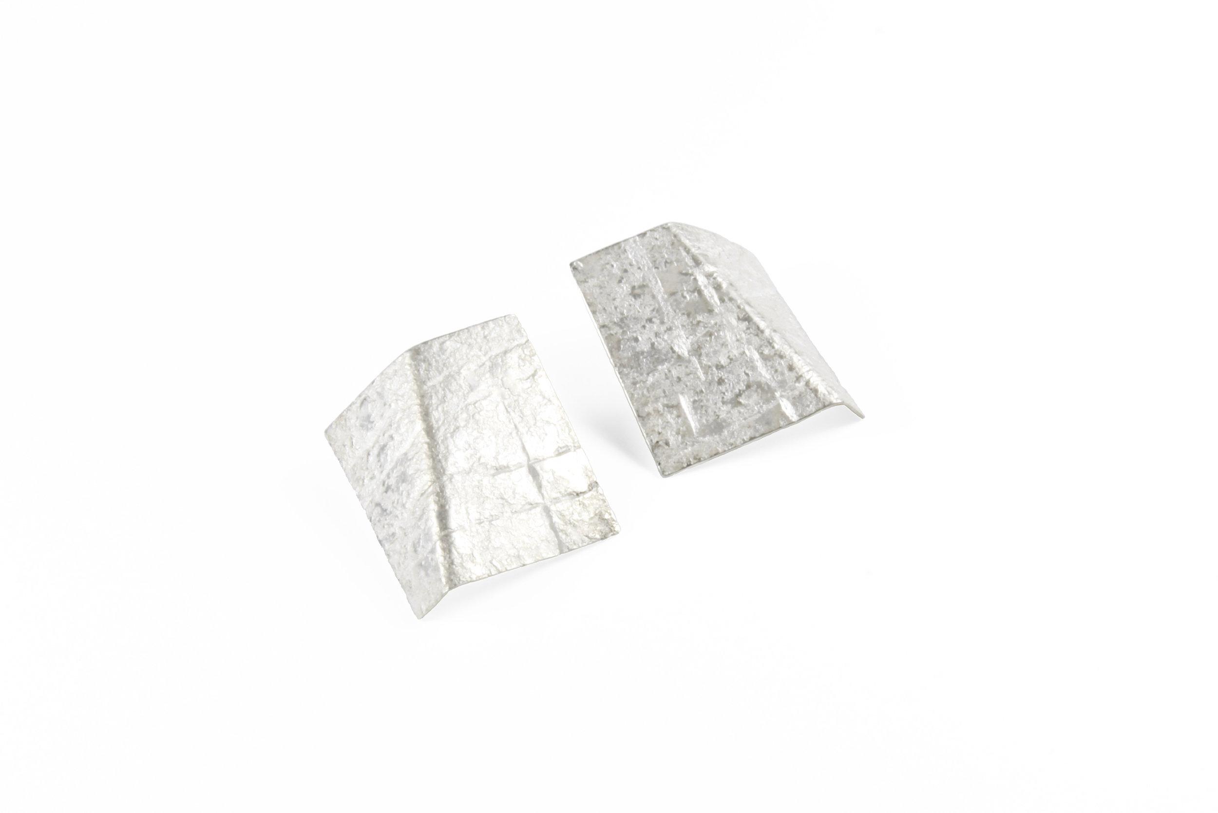 Rhona McCallum, Large Folded Neolith Studs in silver.jpg