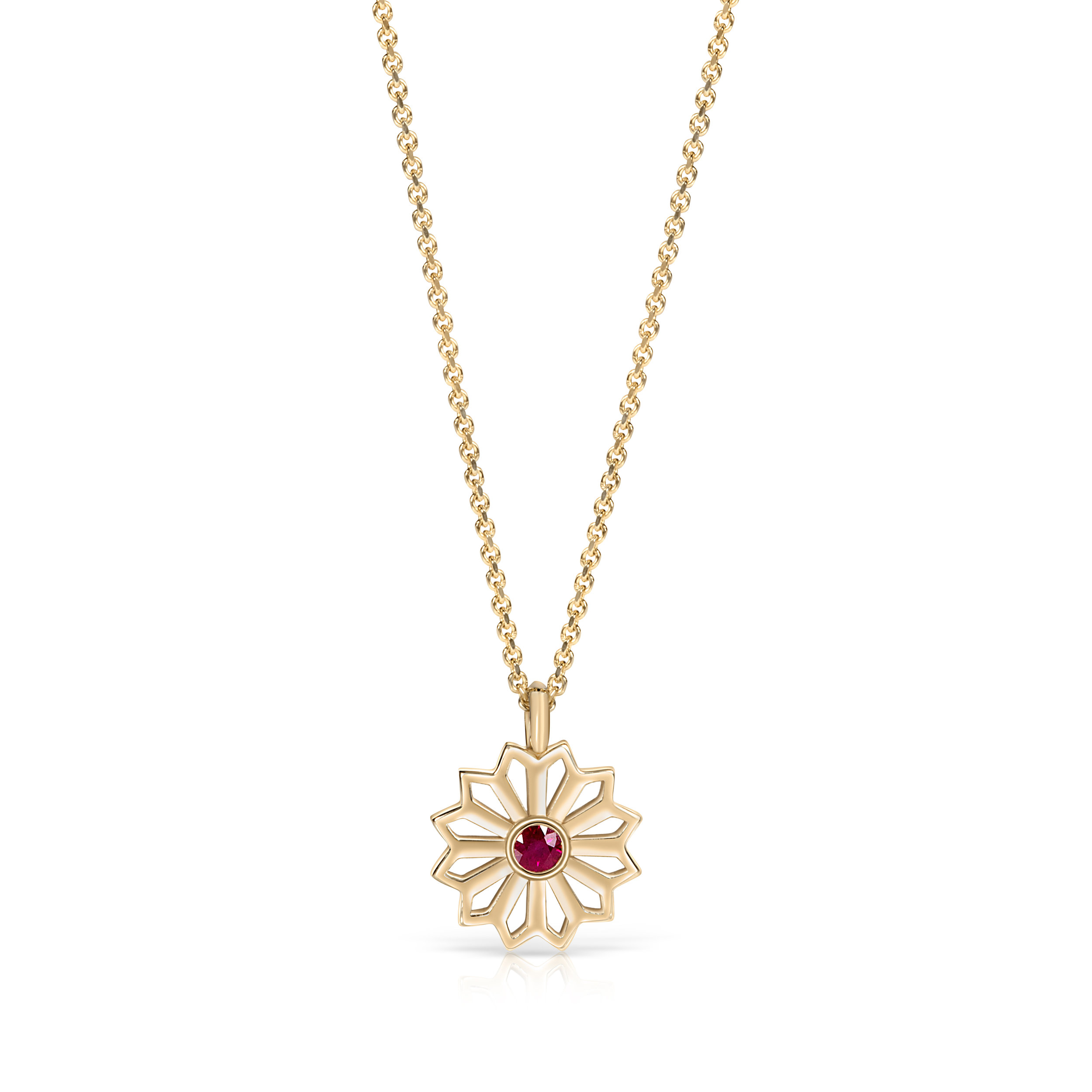 Flora Bhattachary Pushpa Star Pendant in Ruby and 14 carat cropped.jpg