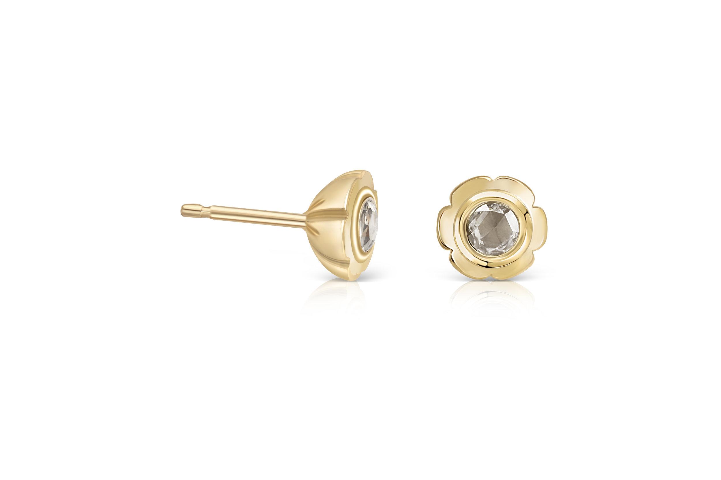 Flora Bhattachary Aditi Pankhuri Champagne Rose Cut Diamond Studs 9 carat yellow.jpg