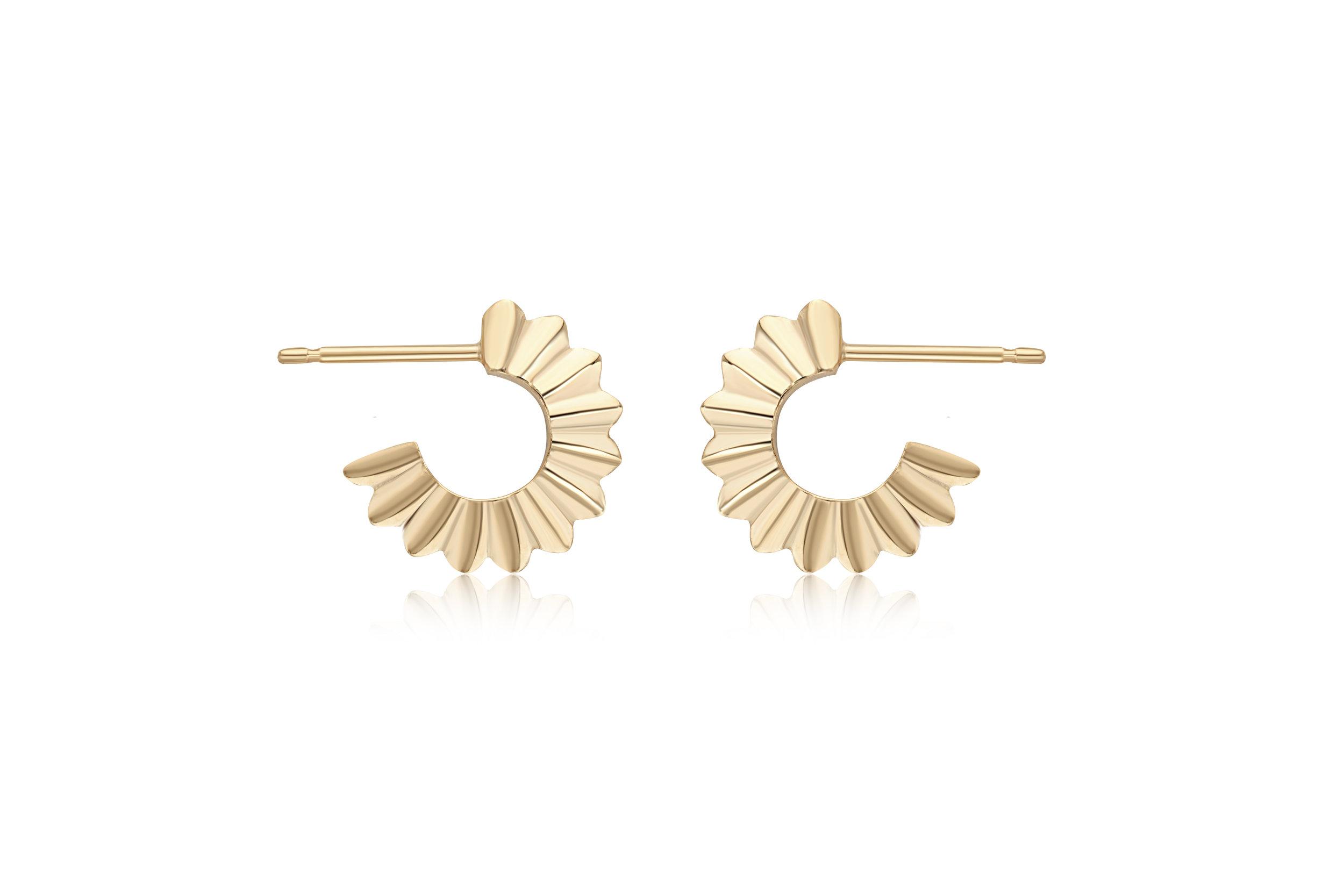 Flora Bhattachary Aditi Pankhuri Hoop Earrings 9 carat yellow.jpg