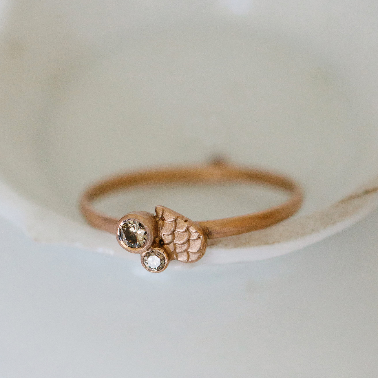 alison macleod 15 Catkin rain drop Ring with off-set diamonds main.jpg