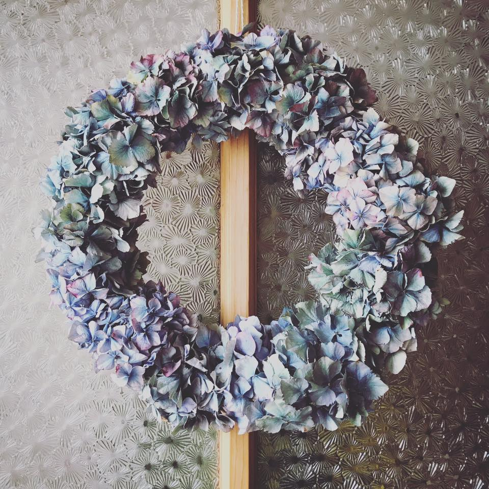 Alison is fascinated by repeat patterns in natural forms, making this wreath for her home
