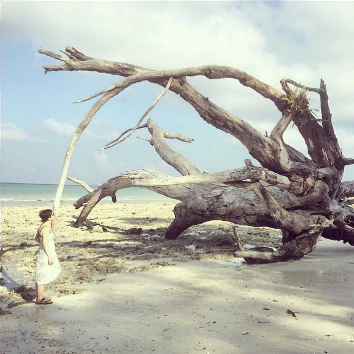 Ruth visiting the Andaman Islands, in an Indian archipelago in the Bay of Bengal.