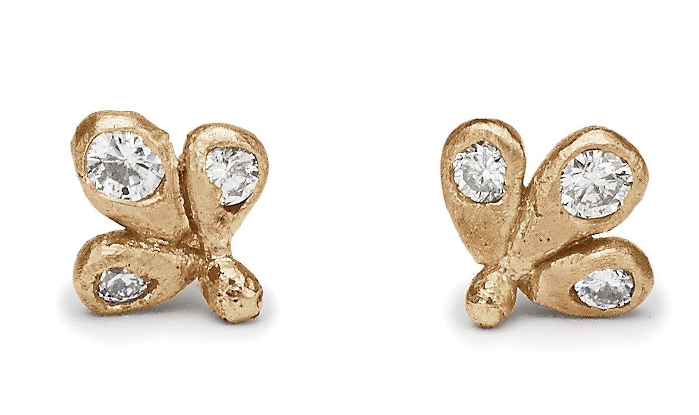 New  Diamond Paisley Studs  inspired by opulant fabrics & decorative designs Ruth encountered in India.