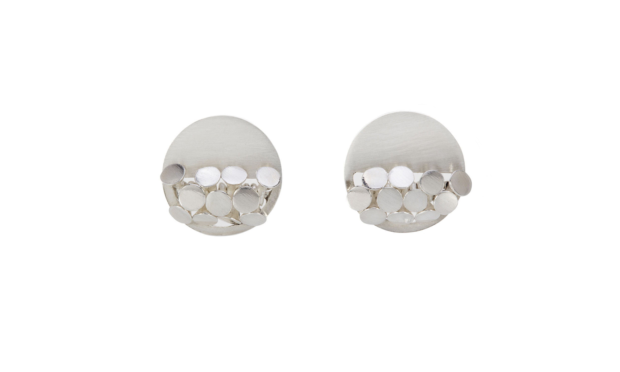 Sarah Pulvertaft Circular Sequin earrings - silver.jpg