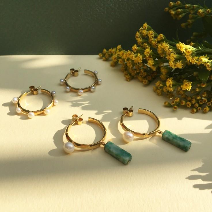 Gracia Hoops pearls+ Gracia Hoops pearls&jade.jpg