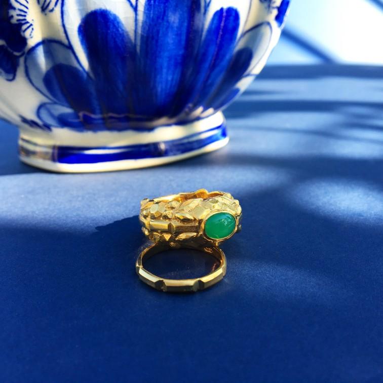 Nour Chrysoprase Ring + Gracia Gold Band.jpg