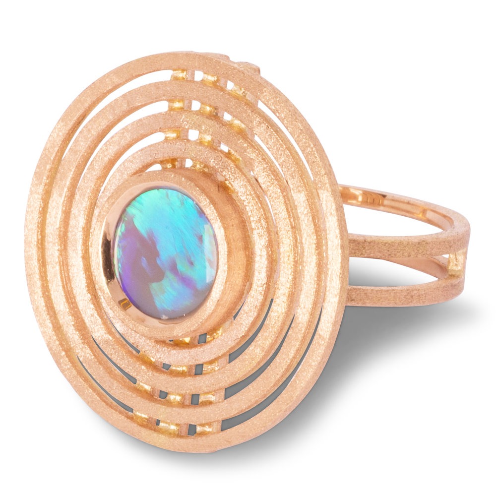 Shimell & Madden 18ct Rose gold Opal ring