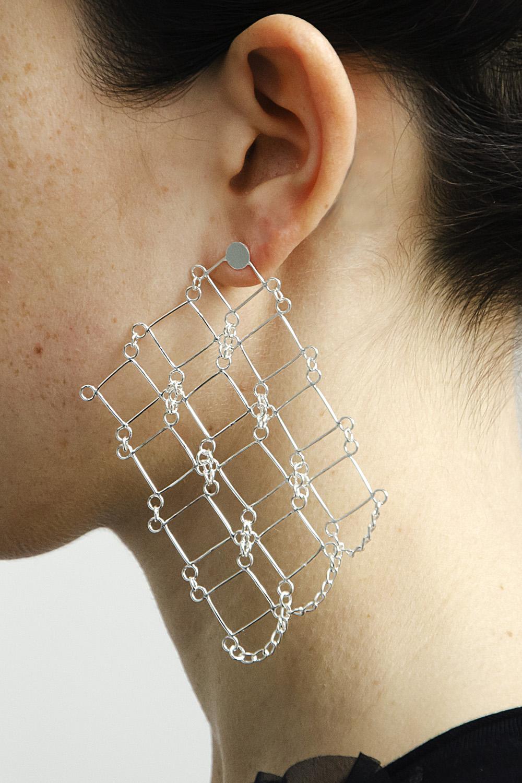 Giulia Savino - Barcelona detail - earrings worn right- silver.jpg