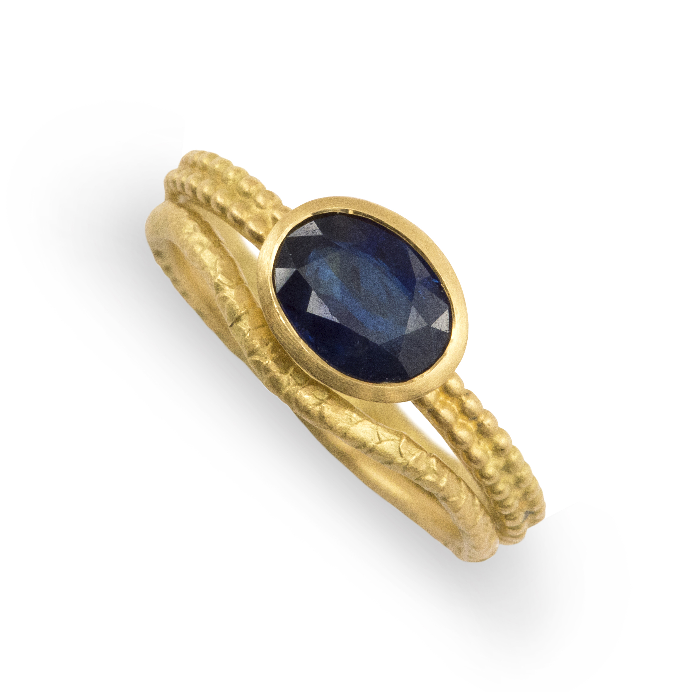 31 Madagaskan Sapphire Coupled Dotty Ring in stack 1.jpg