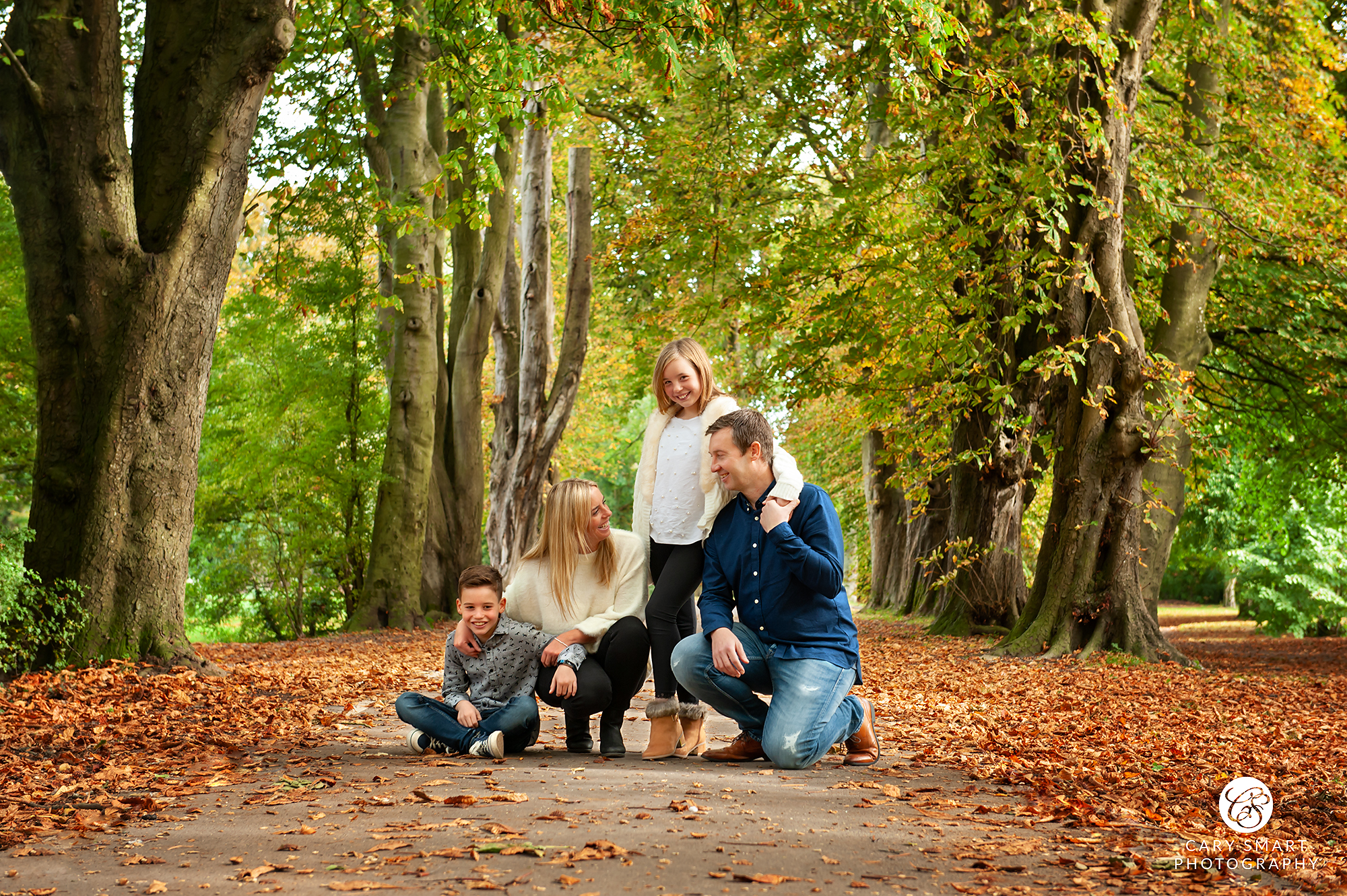 Family photo session in the woods in Caldicot near Newport