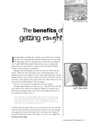 The Benefits of Getting Caught   The story of Jeff Garret, Preaching Minister