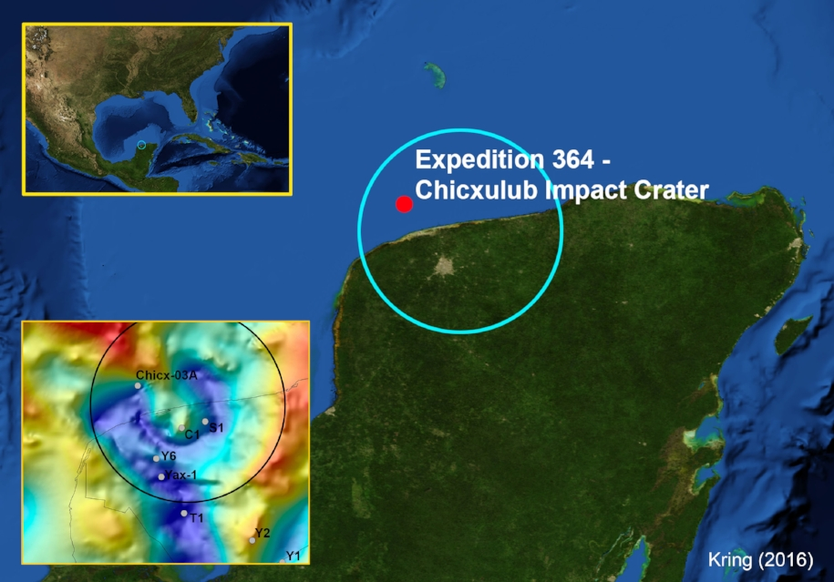 Chicxulub Crater Expedition map