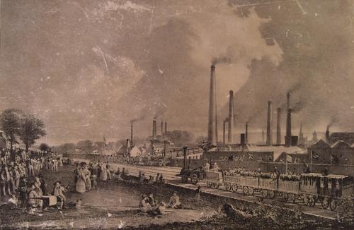 Burning coal in 1831