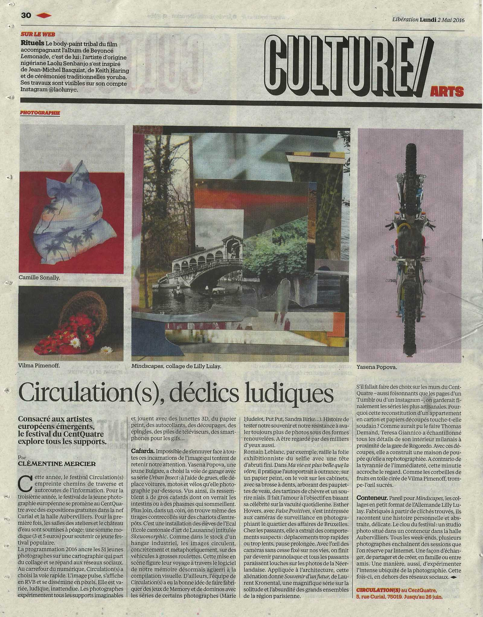 Liberation, Culture: Circulation(s) les delics ludiques. 2nd of May 2016 page: 30