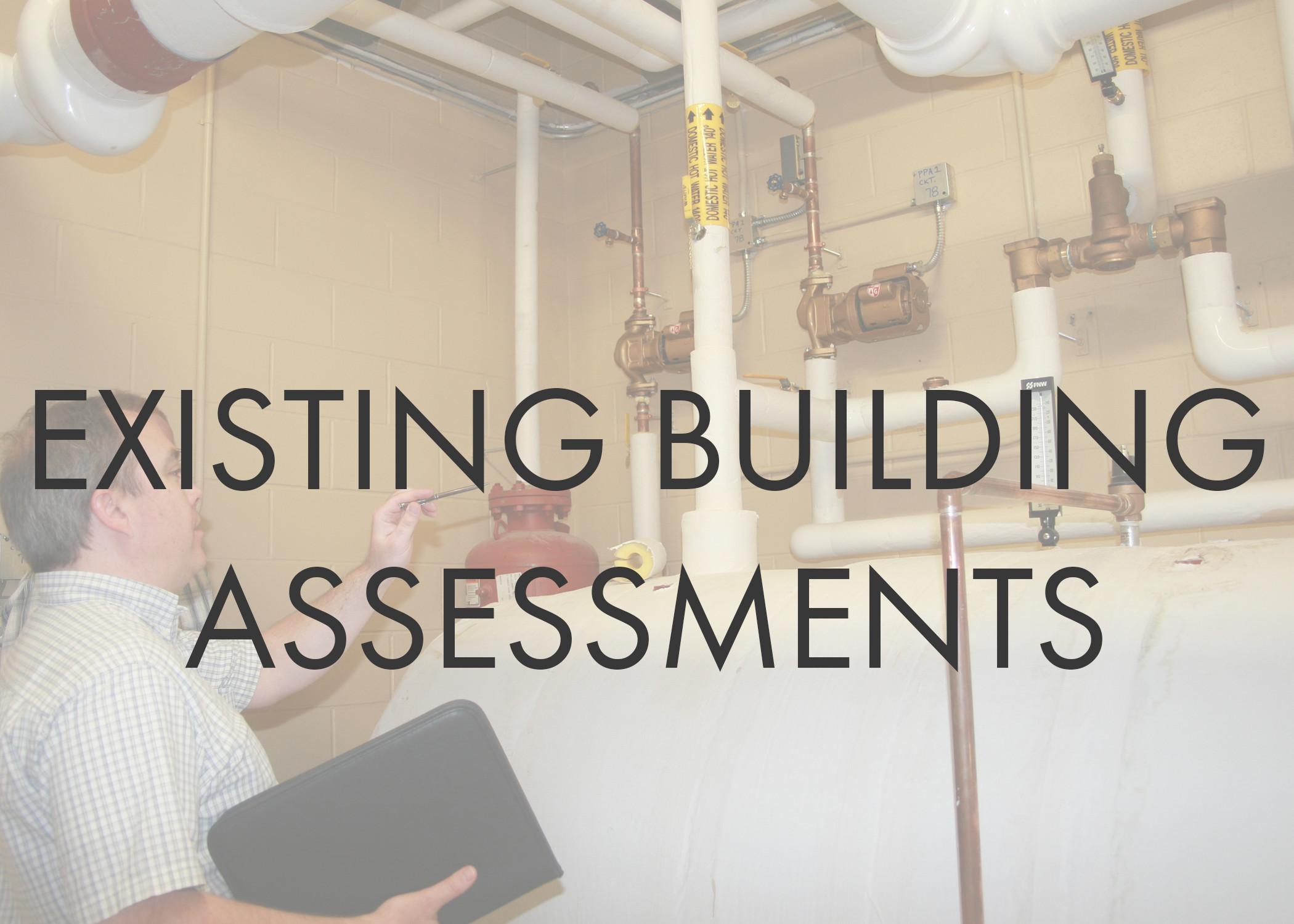 Building Condition Surveys  Facility Evaluations  Long Range Capital Facilities Planning