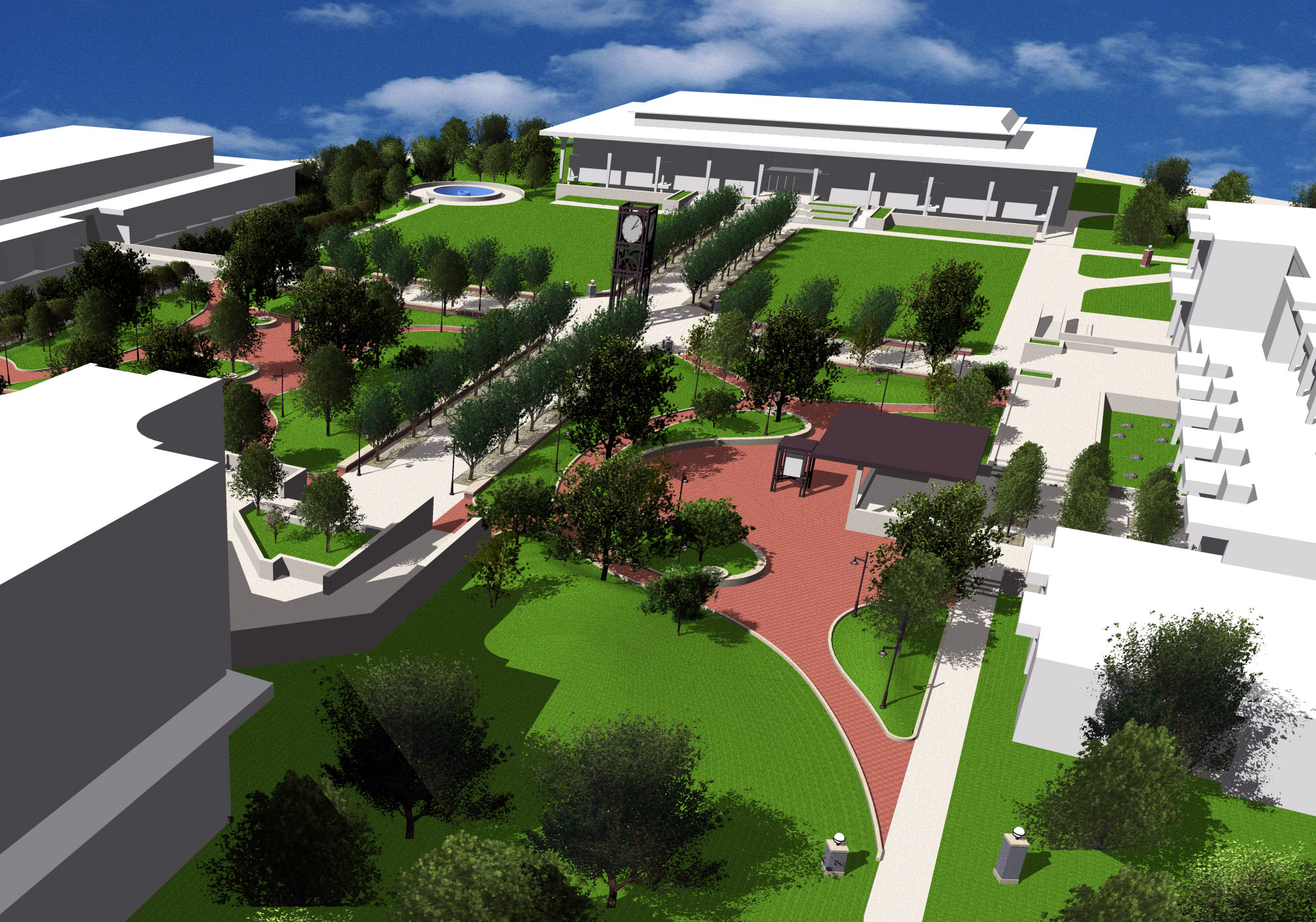 Rendering Veterans Plaza Suffolk County Community College--Suffolk, NY