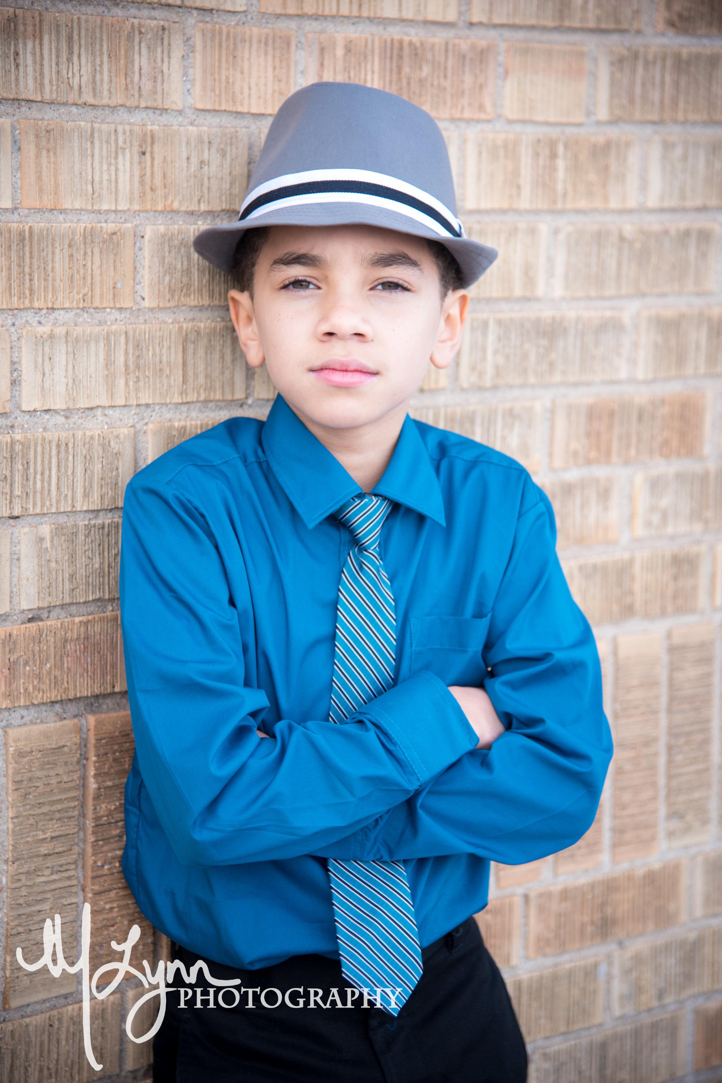 boys fashion blue grey striped fedora fine art portrait.jpg