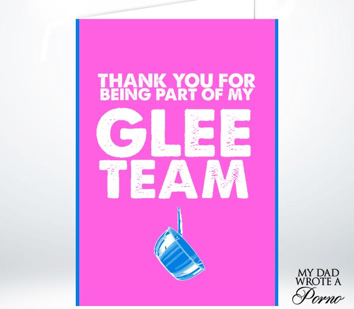 Glee Team Greeting Card £3.49