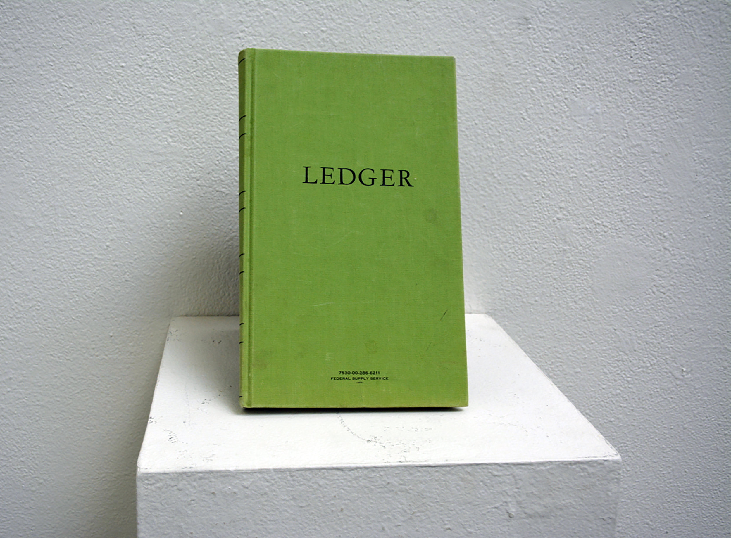 """Untitled (Ledger for Stand-in 1, Series 2)"" (2019)  Stamped Federal Supply Ledger"