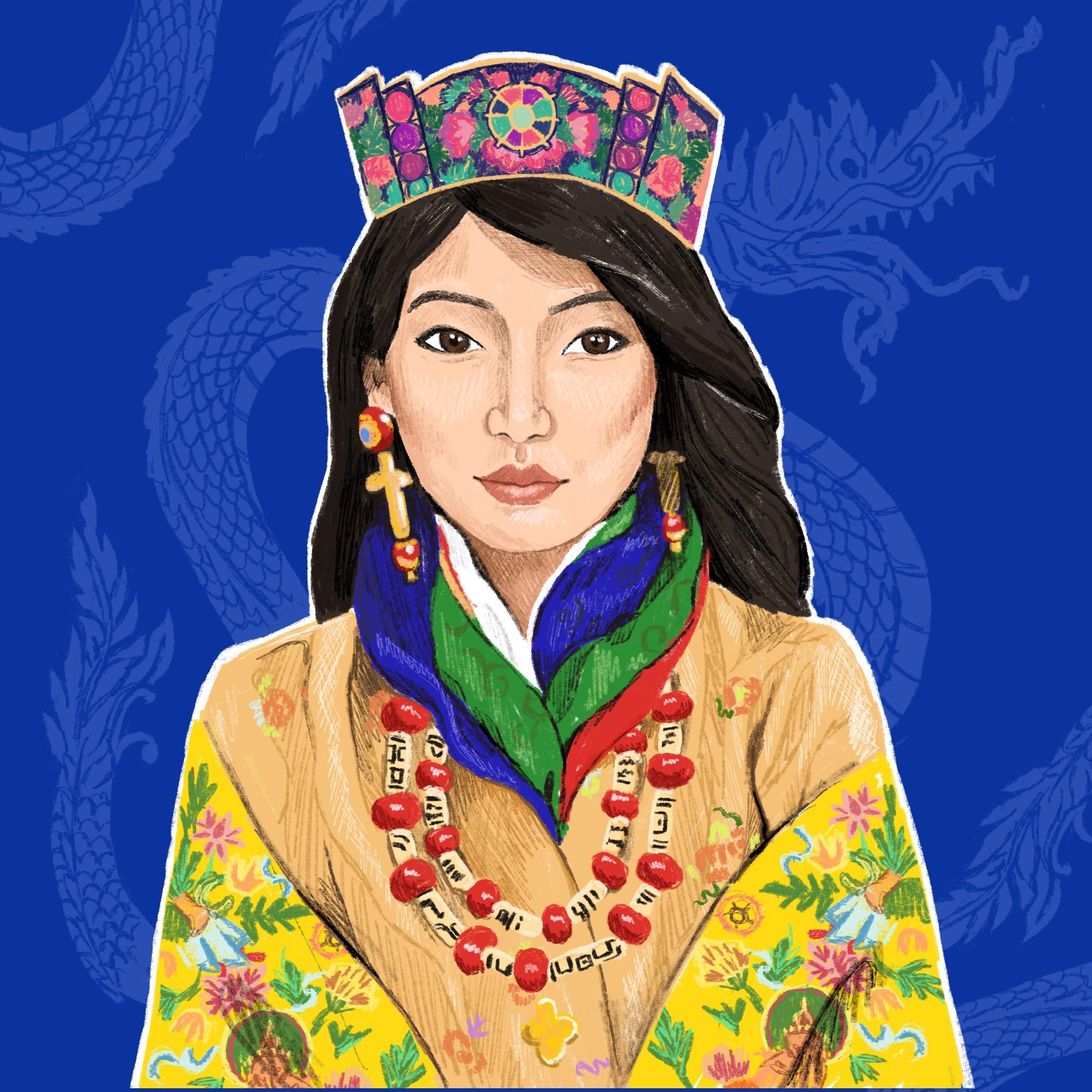 Portrait Challenge - Queen Bhutan