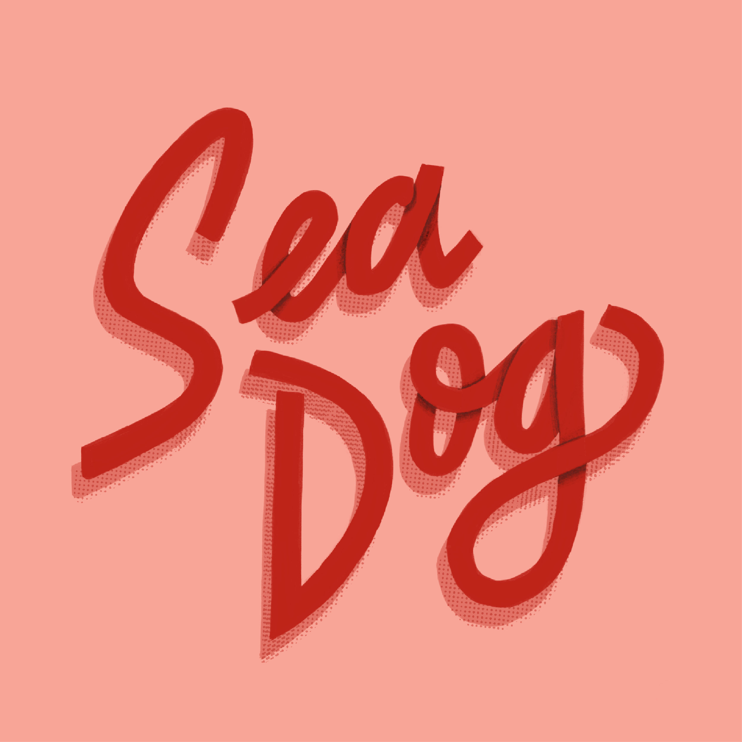 Typography for Sea Dog Print Studio