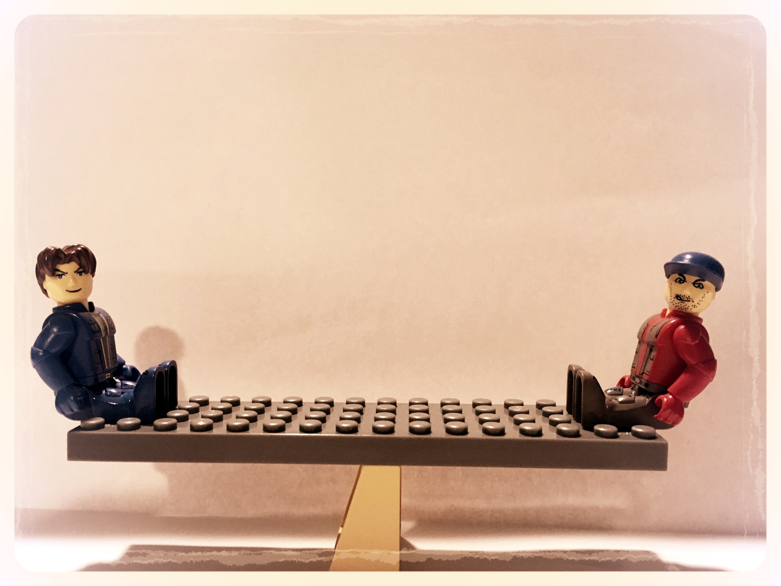 by Eric Biddle (Lego men on teeter totter staged with the help of Miss Ava Biddle)