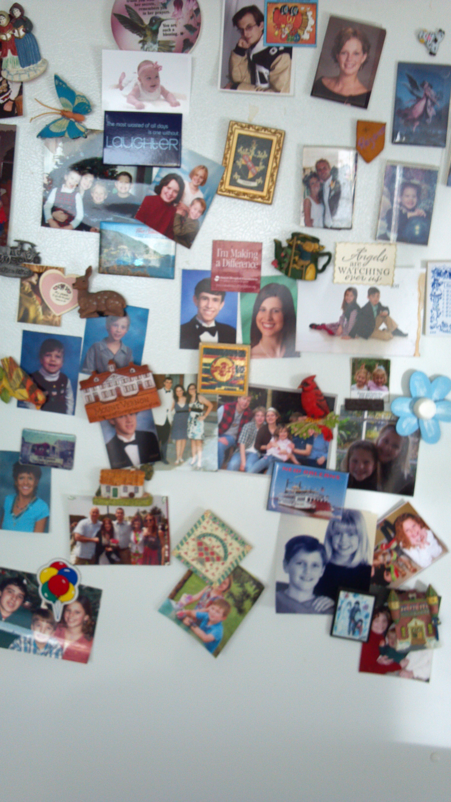 Mom's refrigerator…. - How many stories is that!