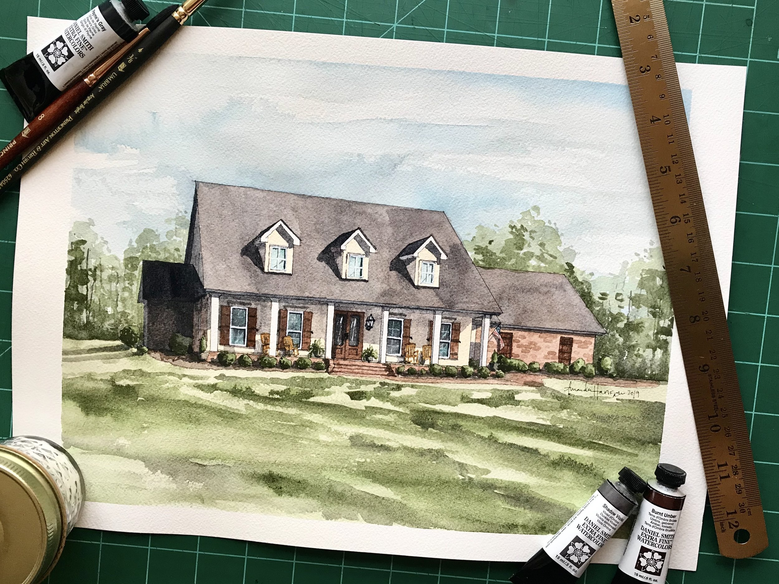 watercolor home portraits - Learn more about commissioning a custom portrait of your house, a beloved childhood home, or a unique gift to someone special. Home Portraits are my passion.