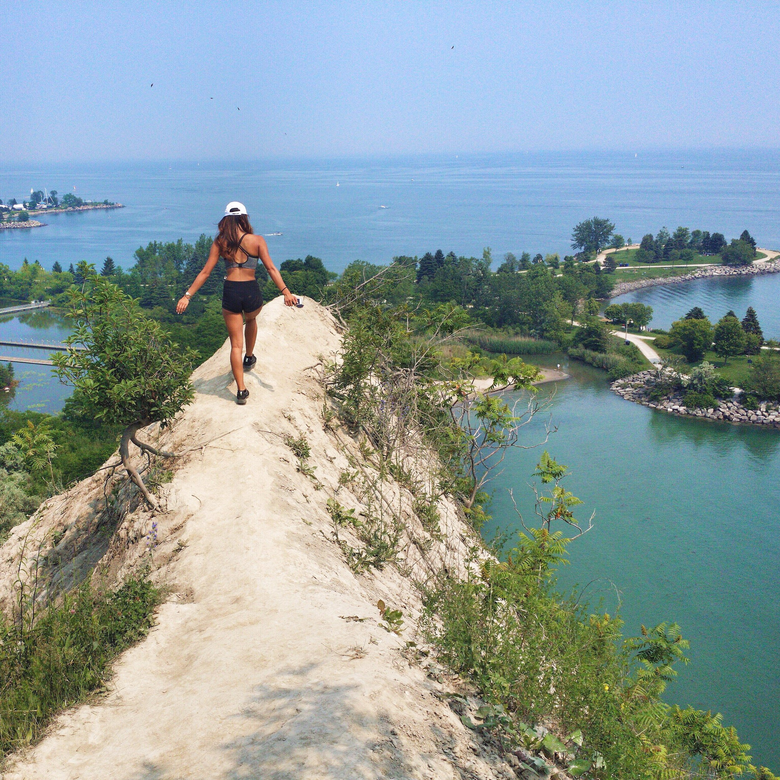 Top of Scarborough Bluffs in Toronto